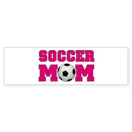 Soccer Mom - Hot Pink Bumper Sticker