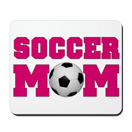 Soccer Mom - Hot Pink Mousepad