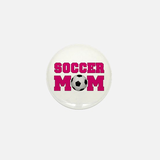 Soccer Mom - Hot Pink Mini Button