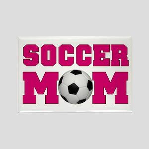 Soccer Mom - Hot Pink Rectangle Magnet