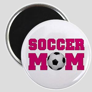 Soccer Mom - Hot Pink Magnet
