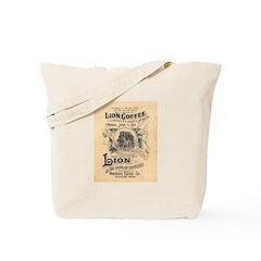 Lion Coffee Tote Bag