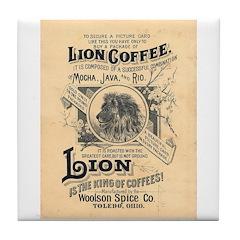 Lion Coffee Tile Coaster