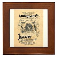 Lion Coffee Framed Tile