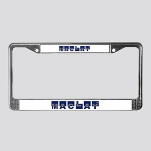 """Maclay '08 """"Color Block"""" License Plate Frame"""