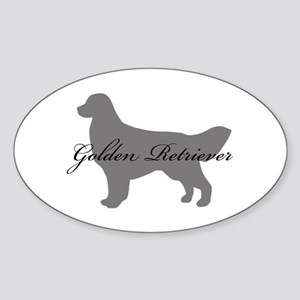 Golden Retriever Oval Sticker