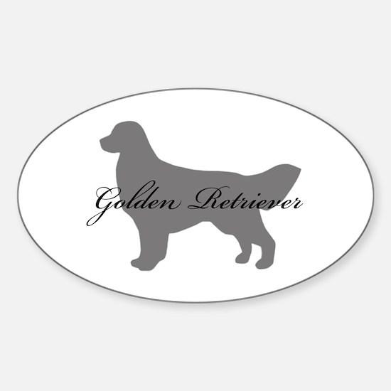 Golden Retriever Oval Decal