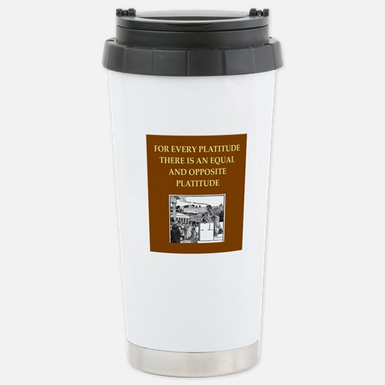 philosopher philosophy Stainless Steel Travel Mug