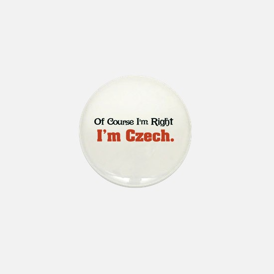 I'm Czech Mini Button