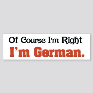 I'm German Bumper Sticker