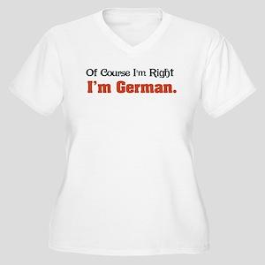 I'm German Women's Plus Size V-Neck T-Shirt