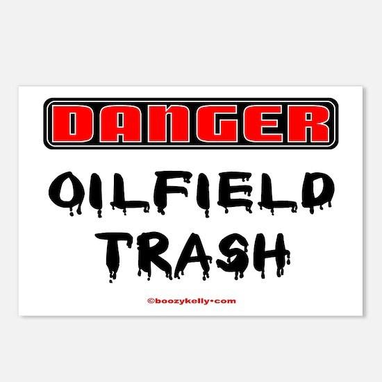 Danger Oil Field Trash Postcards (Package of 8)