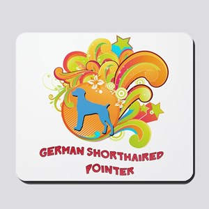 Groovy German Shorthaired Pointer Mousepad