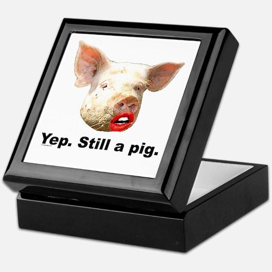 Pig in Lipstick Keepsake Box