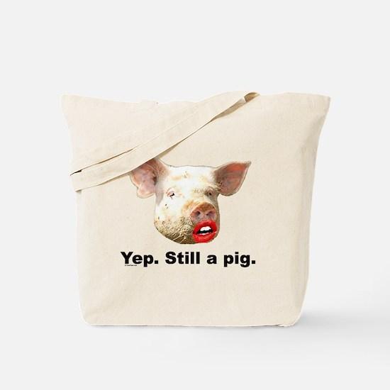 Pig in Lipstick Tote Bag