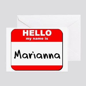 Hello my name is Marianna Greeting Card