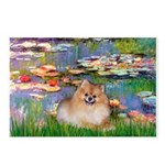 Lilies2/Pomeranian #4 Postcards (Package of 8)