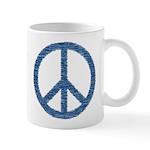 Blue Peace Sign Mug