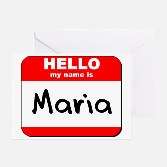 Hello my name is Maria Greeting Card
