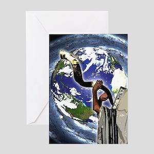 Shofar Earth Greeting Card