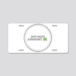 Saint Vincent's & Grenadine Aluminum License Plate