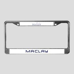 "Maclay ""Script"" License Plate Frame"