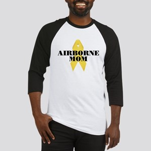 Airborne Mom Ribbon Baseball Jersey