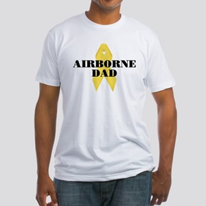 Airborne Dad Ribbon Fitted T-Shirt