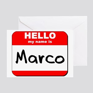 Hello my name is Marco Greeting Card
