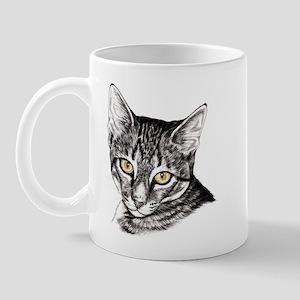 Penciled Tabby Mug