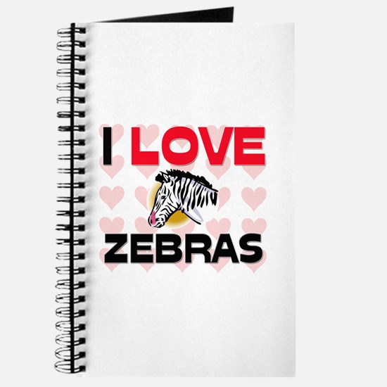 I Love Zebras Journal