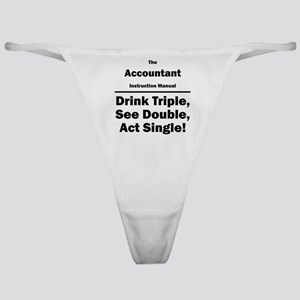 Accountant Classic Thong