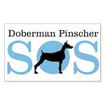 Dobie SOS Rectangle Sticker