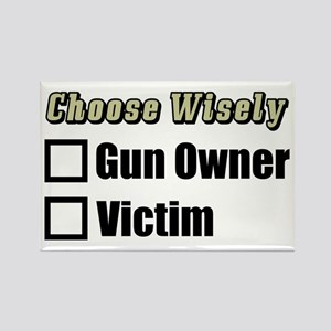 """Gun Owner Or Victim?"" Magnet"