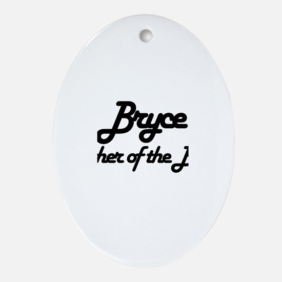 Bryce - Father of the Bride Oval Ornament