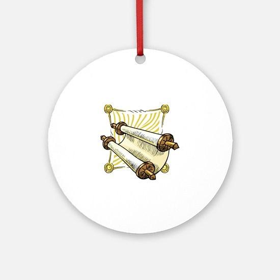 Torah Scrolls Ornament (Round)