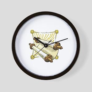 Torah Scrolls Wall Clock