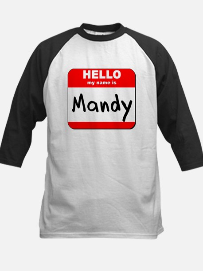 Hello my name is Mandy Kids Baseball Jersey