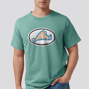 Martha's Vineyard MA - Oval Design. T-Shirt