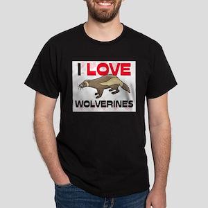 I Love Wolverines Dark T-Shirt