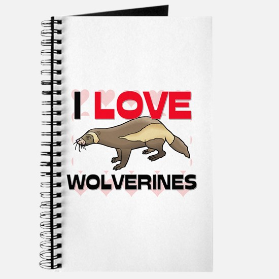 I Love Wolverines Journal