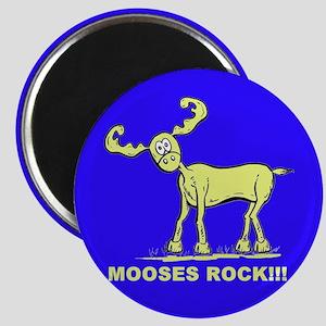 Blue MOOSES ROCK Magnet
