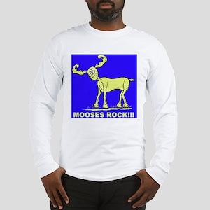 Blue MOOSES ROCK Long Sleeve T-Shirt