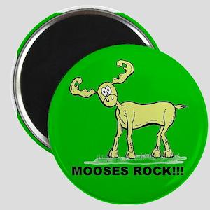 Green MOOSES ROCK Magnet