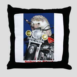 Spikes on Bikes! Throw Pillow