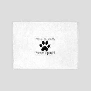 Sussex Spaniel Dog Designs 5'x7'Area Rug
