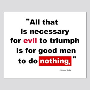 For Evil to Triumph Small Poster