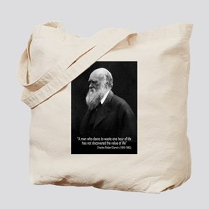 Charles Darwin Quotes Tote Bag