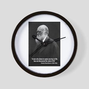 Charles Darwin Quotes Wall Clock