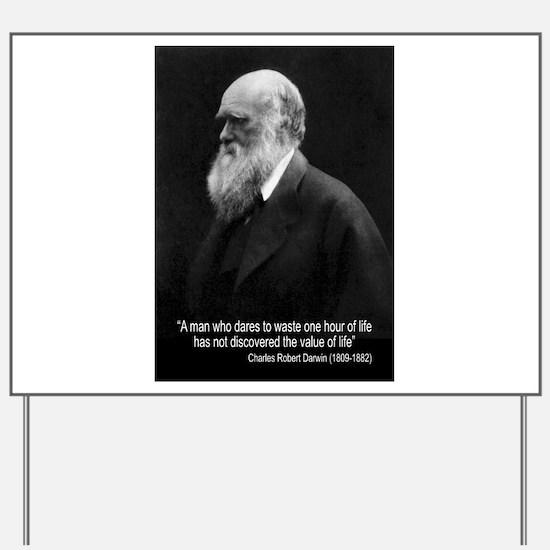 Charles Darwin Quotes Yard Sign